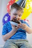 Happy boy celebrate birthday Royalty Free Stock Photo