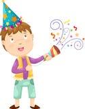 Happy boy celebrating vector Royalty Free Stock Image