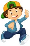 Happy boy character on white background. Illustration vector illustration