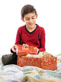 Happy boy in Christmas day Stock Image