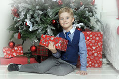 Happy boy in Christmas Royalty Free Stock Photo