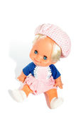 Happy boy doll sitting Royalty Free Stock Images
