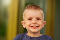 Boy with Pleasant Smile Royalty Free Stock Image