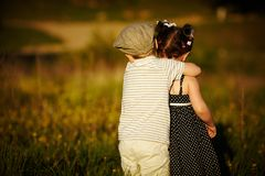 Happy boy and girl Royalty Free Stock Images