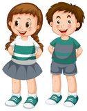 Happy boy and girl. Illustration vector illustration