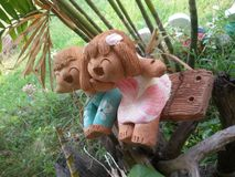 Pottery dolls. Royalty Free Stock Photography