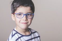 Happy boy with glasses Royalty Free Stock Image
