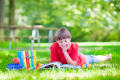 Happy boy going back to school Royalty Free Stock Photo