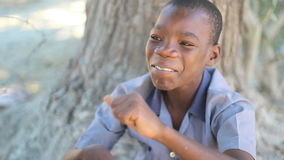 Happy Boy Haiti Tight Shot stock video footage
