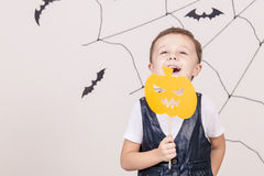 Happy boy on Halloween party Stock Photography