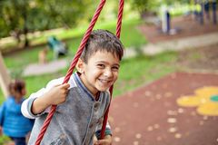 Closeup portrait of happy smiling little boy. royalty free stock photography