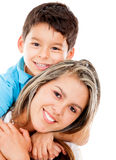 Happy boy with his mother Royalty Free Stock Photos