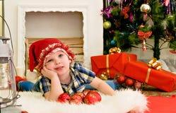 Happy boy .Holiday Happy Christmas. Stock Photography
