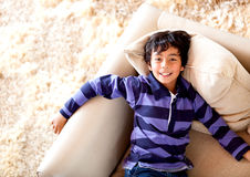 Happy boy at home Royalty Free Stock Photography