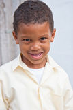 Happy boy home from school royalty free stock photo
