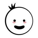Happy boy icon stick figure Royalty Free Stock Photos