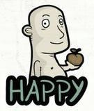 Happy boy illustration Royalty Free Stock Image