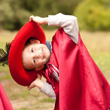 Happy Boy In Carnival Costume Musketeer Royalty Free Stock Images
