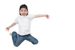 Happy boy jumping Stock Image