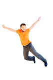 Happy boy jumping Stock Photography