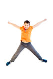 Happy boy jumping Royalty Free Stock Photography