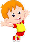 Happy boy jumping Stock Photography