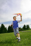 Happy boy with kite Royalty Free Stock Photo