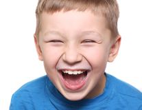 Happy boy laughing Stock Photography