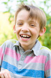 Happy boy laughing Royalty Free Stock Photography