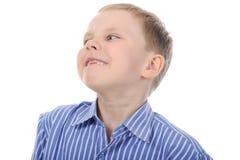 Happy boy with no front teeth Stock Photos