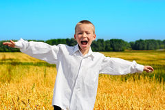 Happy Boy Outdoor Royalty Free Stock Images