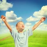 Happy Boy outdoor Stock Image