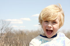 Happy Boy Outside Royalty Free Stock Images