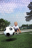 boy play in soccer Royalty Free Stock Images