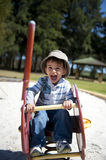 Happy Boy at Playground Stock Image