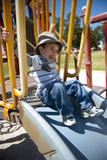 Happy Boy at Playground Stock Photos