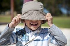 Happy Boy at Playground Stock Image