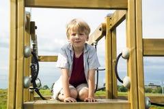 Happy boy on the playground Royalty Free Stock Photo