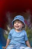 Happy boy on playground Royalty Free Stock Photos