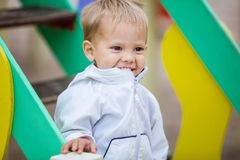 Happy boy on playground Royalty Free Stock Photography