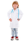 Happy boy playing doctor Stock Photo