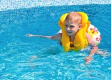 Happy boy at pool Stock Photo