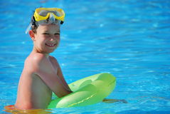 Happy Boy in Pool Royalty Free Stock Images