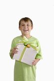 Happy boy with present Stock Photography