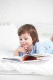 Boy read book Royalty Free Stock Image