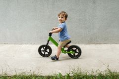 Boy on a bicycle Royalty Free Stock Images
