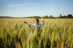 Happy boy runs Royalty Free Stock Photography