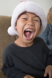 Happy boy in santa hat Royalty Free Stock Photo