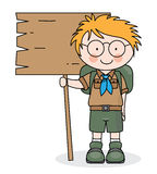 Happy boy scout Royalty Free Stock Photography
