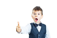 Happy boy showing thumbs up Royalty Free Stock Photos